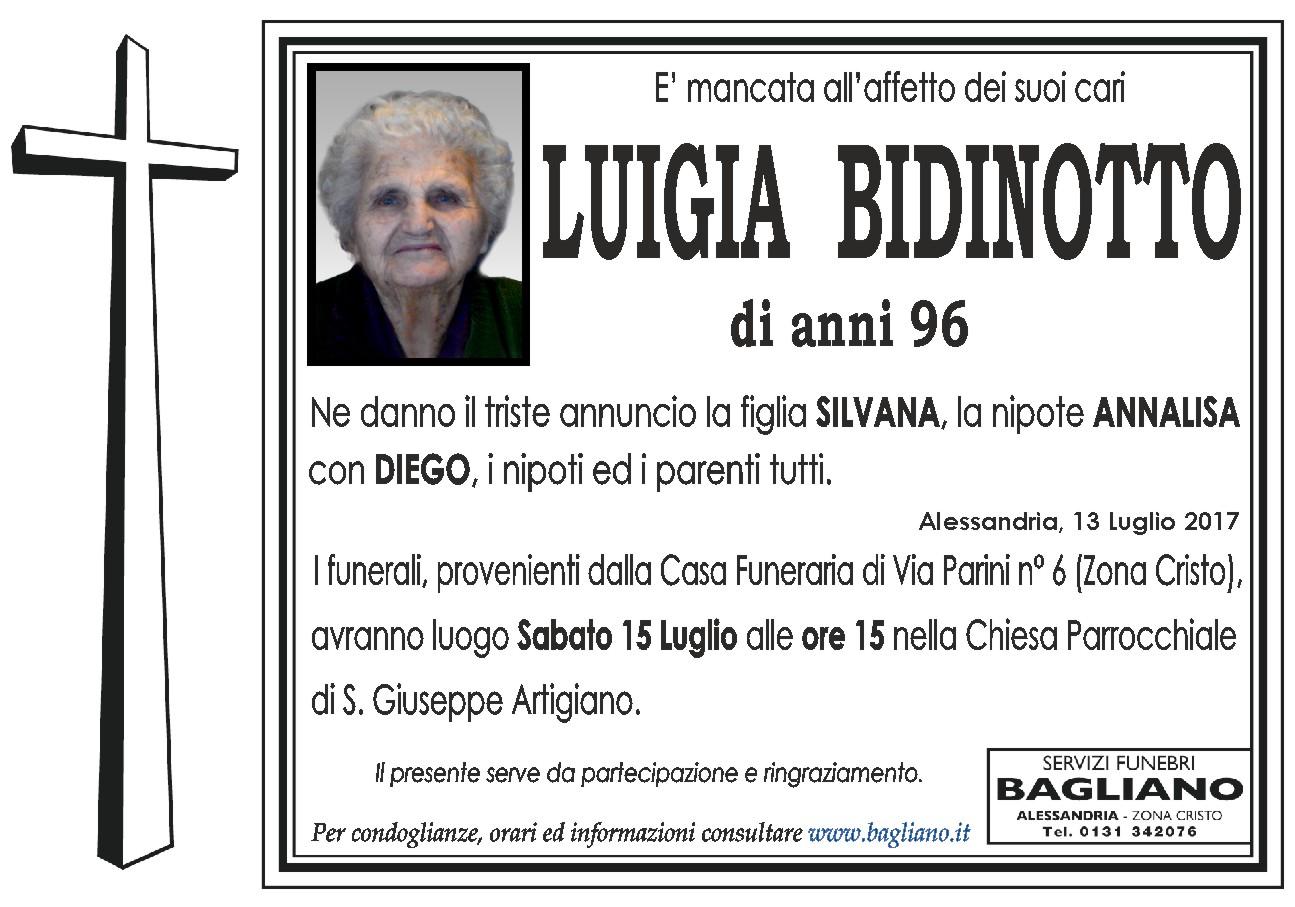 Condoglianzeonline It Il Portale Dedicato Ai Necrologi Bidinotto Luigia Bagliano Servizi Funebri